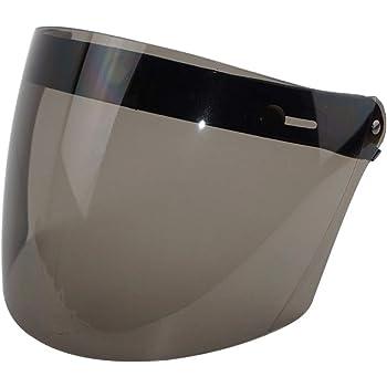 3 Snap Flip Up Visor Cascos de Moto Flip Up Face Visor Wind Shield Lens for Retro Open Face Motorcycle Helmet Universal