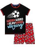 Harry Bear Pijama Corta para niños Fútbol Negro 7-8 Años