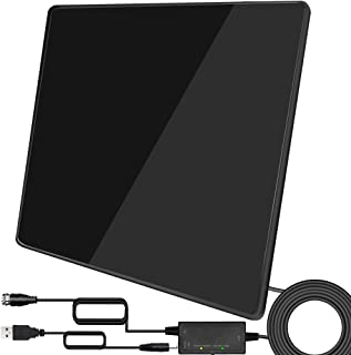 TV Antenna- 2021 Upgarded Amplified Indoor Digital Antenna Up to 250 Miles Range Support 4K 1080P & All TV's HDTV Antenna ...