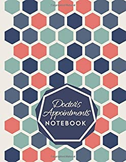"Doctor's Appointments Notebook: Patients Appointment Logbook, Track and Record Clients/Patients Attendance Organiser, Daily Weekly Monthly, Gifts for ... 8.5"" x 11"", 110 (Clinical Patients Log)"