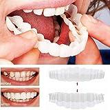 ZHT Cubierta de Dientes Falsos, un tamaño de protección Ambiental 2PCS / Set (Dentadura de Dientes Superior e Inferior) Frenos de simulación de Silicona dentadura Dientes Confort Ajuste Flexible