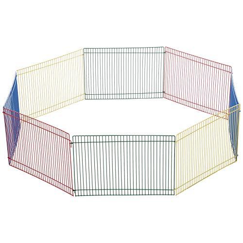 Pawhut Box per Animali Modulabile 8 Pezzi, Recinto per Conigli, Porcellini d'India, Tartarughe, 69x69x23cm Multicolore