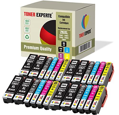 Pack de 24 XL TONER EXPERTE Compatibles 26 26XL Cartuchos de Tinta para Expression Premium XP-620 XP-615 XP-600 XP-700 XP-800 XP-820 XP-720 XP-520 XP-605 XP-625 XP-510 XP-710 XP-610 XP-810