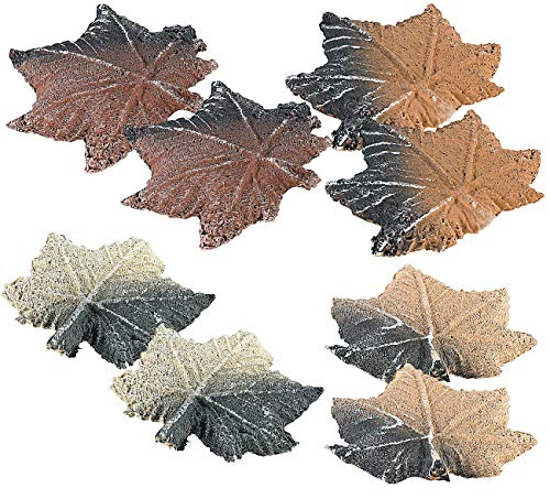 Carlo Milano Keramik-Holzscheit Kamin: 2er-Set Keramik-Feuerdekorationen Ahornblätter für Bio-Ethanol-Öfen (Tischkamin-Deko-Materialien)