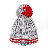 August EPA30 - Bluetooth Mütze - Winter Strickmütze mit Bluetooth Stereo Kopfhörer,...