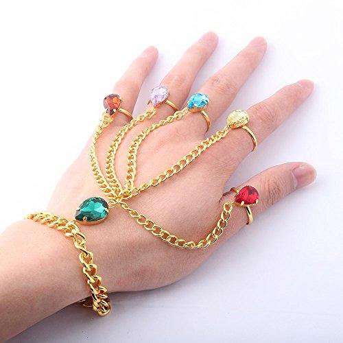 K-Y YK Infinity Gemstone Bracelet Cosplay Jewelry Imitation Thanos Gloves Jewelry Female Ring Bracelet