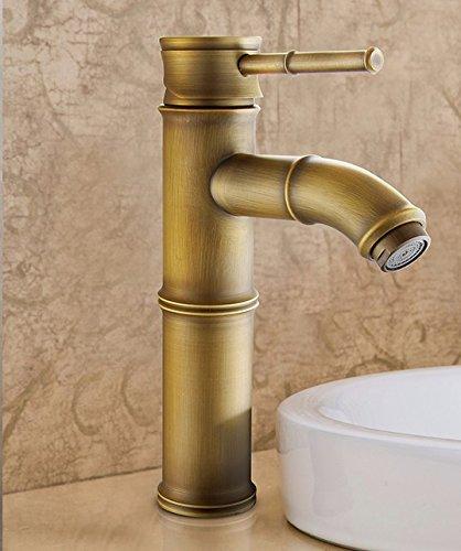 Eengreepsmengkraan voor kraan koud water in de stijl van Europeo retro warm en koud boven de gootsteen, handvat enkel gat voor een, van koper, wastafelarmatuur Q
