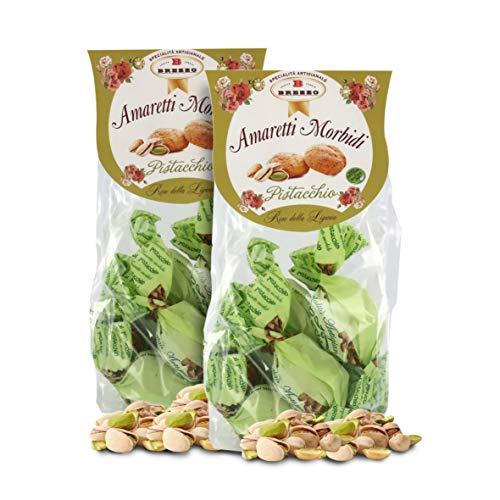 Amaretti Sabor Pistacho - Galletas Italianas de Almendra - 150 Gramos (Paquete de 2 Piezas)