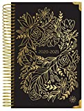 """HARDCOVER bloom daily planners 2020-2021 Academic Year Day Planner Calendar (July 2020 - July 2021) - 6"""" x 8.25"""" - Passion/Goal Organizer - Monthly/Weekly Inspirational Agenda Book - Gold Embroidery"""