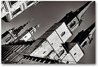 Premium textilduk 90 cm x 60 cm tvär, marknadskirka våra nära kvinnor   väggbild, bild på kil ram, färdig bild på äkta kan...