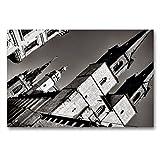 CALVENDO Tela in Tessuto di Alta qualità, 90 cm x 60 cm Orizzontale, Motivo: Chiesa di Mercato Unser Lieben Frauen - Immagine su Telaio a Cunei, pronta da Appendere, Stampa su Tela Orte