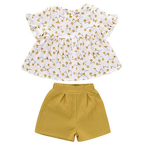 DaMohony zomerjurk voor meisjes van katoen voor baby's en peuters van 1-5 jaar