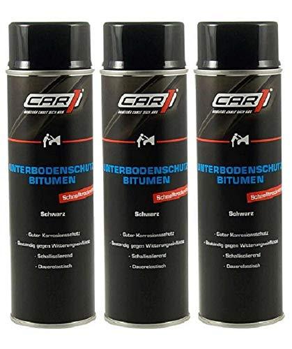 3 x 500ml CAR1 Unterbodenschutz Bitumen Versiegelung, UBS, Steinschlagschutz CO 3612