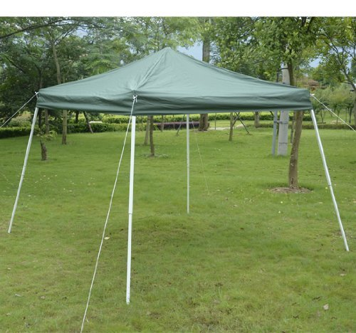 Outsunny Slant Leg Easy Pop-Up Canopy Party Tent, 10 x 10-Feet, Green