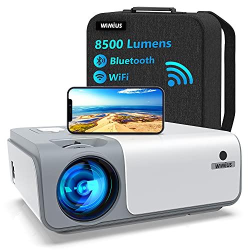 5G WiFi Videoprojecteur Full HD Bluetooth-WiMiUS W1,8500 Lumen...