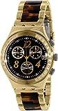 Swatch Irony YCG405GC - Reloj de cuarzo suizo dorado para mujer
