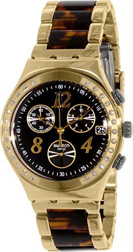 Swatch Irony YCG405GC Reloj De Cuarzo Suizo De Acero Inoxidable Dorado Para Mujer