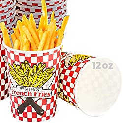 top rated Parchment-based french fries paper cups, 100 pieces each sturdy frying container holds 12 ounces, … 2021