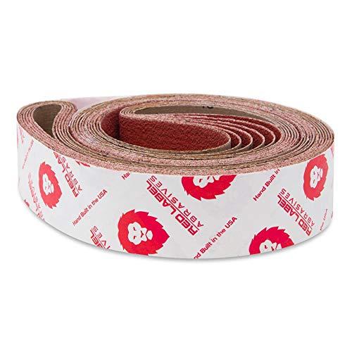 Red Label Abrasives 2 X 72 Inch 120 Grit EdgeCore Ceramic Grinding Sanding Belts, 6 Pack