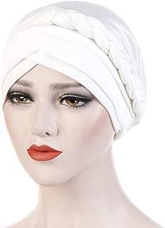 WoCoo Women Muslim Hat India Scarf Ruffle Cancer Cap Sleep Soft Headwear Chemotherapy Beanie Cap