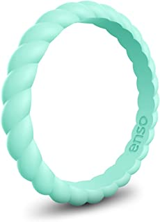 Enso Rings Braided Silicone Rings Premium Fashion Forward Stackable Silicone Ring