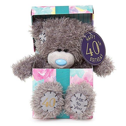Me To You sg01W4118Bluetooth hoch Tatty Teddy Happy 40th Birthday in einem Geschenk sitzt Plüsch Spielzeug