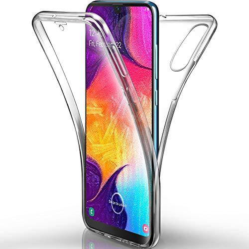 AROYI Hülle Kompatibel mit Samsung Galaxy A50 Handyhülle, Silikon Crystal Full Schutz Cover transparent TPU Ultra dünn Hülle Vorne & Hinten Schutzhülle für Samsung Galaxy A50
