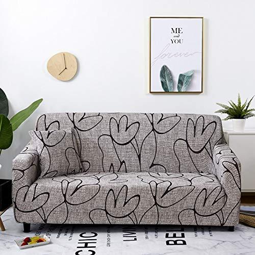 ASCV Funda de sofá de celosía elástica para Sala de Estar Funda de Silla de sofá Funda de sofá elástica para decoración de Sala de Estar sofá A9 2 plazas