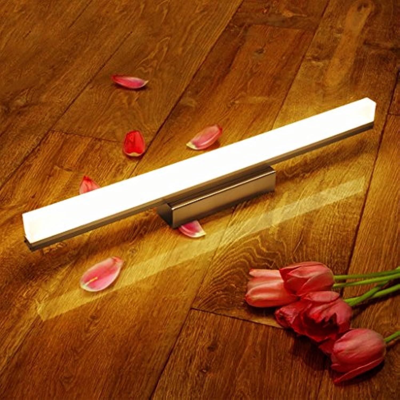 DS-Spiegel Frontleuchte LED Spiegel Frontleuchte Wasserdicht Anti-Fog Bad Wandleuchte Acryl Spiegel Schrank Lampe Badezimmer Make-up Lichter 39 49 59 69   89cm&& (Farbe   12W Weiß light)