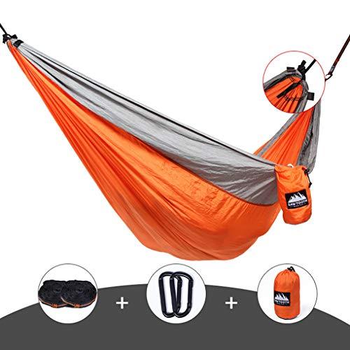 RGA Double - Extra Grote Draagbare Hangmat - Ideaal voor kamperen, Rugzakken, kajakken en reizen - Inclusief ophangsysteem