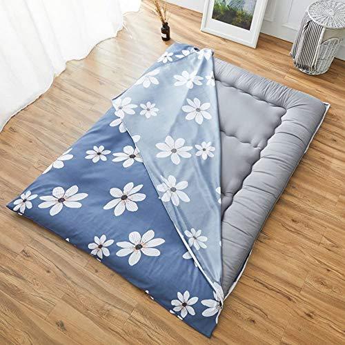LJYY Colcha de algodón para el suelo, muy gruesa, lavable [a prueba de polvo] con cremallera para colchón de 180 x 200 cm