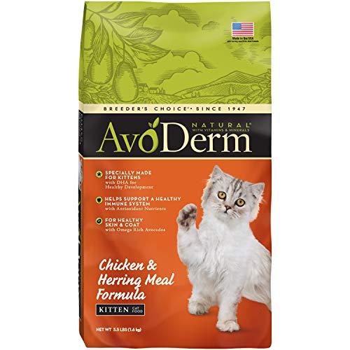 Avoderm Natural Chicken & Herring Meal Formula Dry Kitten Food, 3.5-Pound