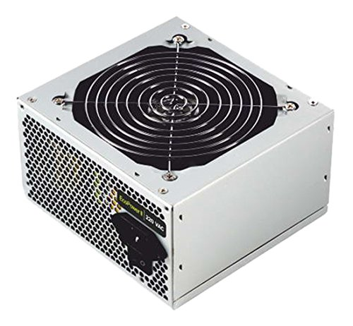 TooQ TQEP-500SSE - Fuente de Alimentacion Ecopower II de 500W con PFC Activo, Ventilador silencioso de 120mm con Control automatico de Velocidad, (ATX 12V V1.3, CE/RoHS, Color Plata)