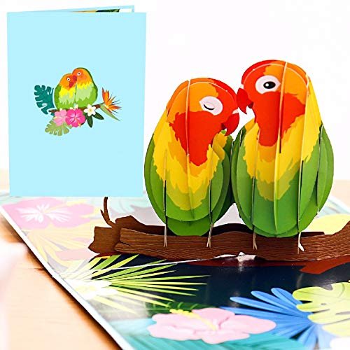 Liif Lovebirds 3D Greeting Pop Up Cards For All Occasions, Valentines Day, Mother's Day, Happy...