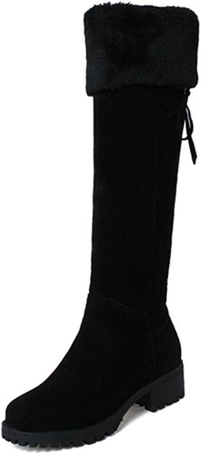 Summer-lavender Winter Warm shoes Women Knee High Boots Snow Boots shoes
