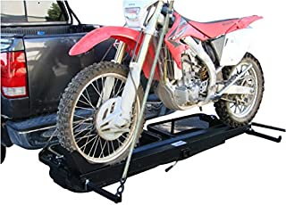 1000lb Dirt Bike Scooter Motorcycle Tow Hitch Carrier Rack With Cargo Baskets
