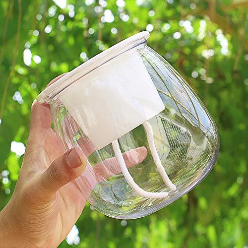 XHZJ Pot de fleurs en pot de plante verte hydroponique, Pot de stockage d'eau sans eau à absorption d'eau et absorbant l'eau, Pot de fleur hydroponique paresseux Pot en plastique de plante verte en po