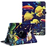LXS iPad 9.7 inch Case 2018 2017/ iPad Air Case - 360 Degree Rotating Stand Protective Cover Smart Case with Auto Sleep/Wake for Apple iPad 5th/6th Generation (Sea World)