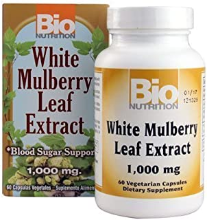 Bio Nutrition White Mulberry Leaf Extract, 1000 Mg, 60 Count by Bio Nutrition