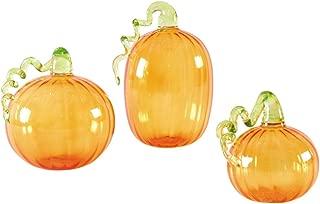 Glass Pumpkin Ornament, Set of 3