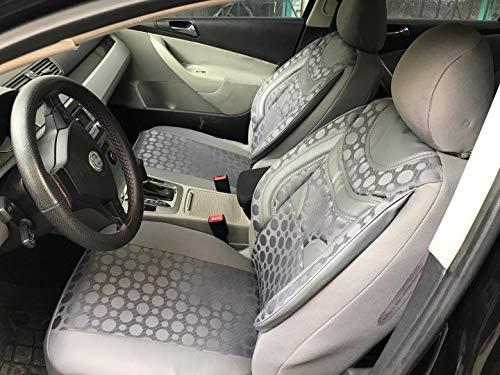 Sitzbezüge k-maniac für Audi A8 D2 | Universal grau | Autositzbezüge Set Komplett | Autozubehör Innenraum | NO1820435 | Kfz Tuning | Sitzbezug | Sitzschoner