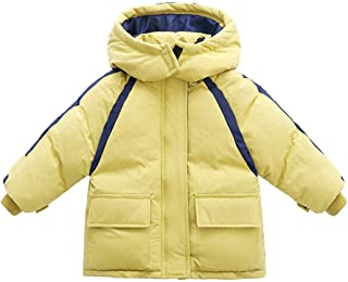 Xifamniy Infant Babies Down Cotton Thicken Jacket Fashion Stitching Color Hooded Coat
