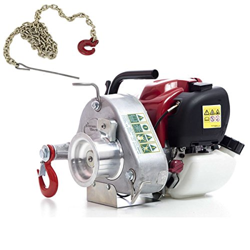 Portable Winch PCW3000 Gas-Powered Capstan Winch with PCA-1295 Choker Chain (Bundle, 2 Items)