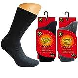Art-of-Baan Power Thermo Socken Dicke Winter Damen Herren warme Thermosocken Fleece flauschig 5 x wärmer schwarz, Größe: 35-38