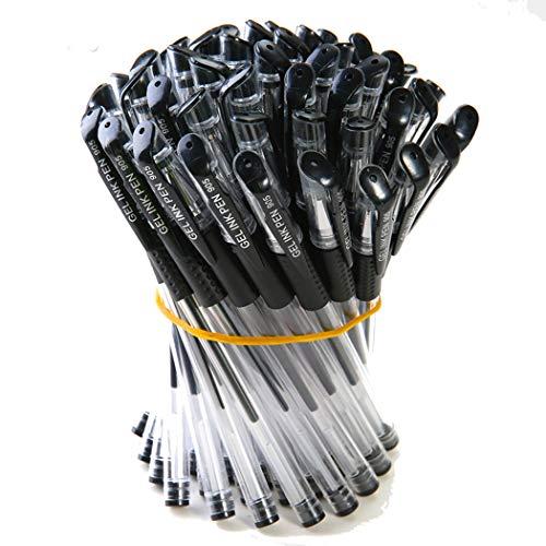 Bolígrafo Gel Pluma de Papelería Suministros Escuela Oficina Bolígrafos de Tinta Gel 0.5mm Negro (10 piezas)
