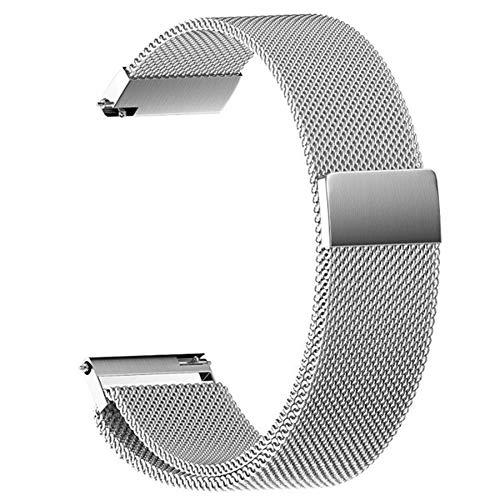 RHBLHQ 18 Mm 20 Mm 22 Mm Correas De Reloj Elegante Universal del Reloj La Correa del Metal del Acero Inoxidable De La Banda De Reloj Mujeres De Los Hombres Relojes (Color : Silver, Size : 22mm)