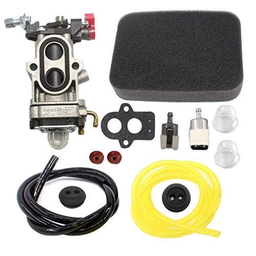 AISEN Carburetor for 577144601 Husqvarna 560BFS 560BTS Back Pack Blowers Fuel Line Filter Grommet Air Filter
