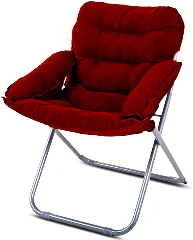 Faule Faule Faule Couch Verstellbare Lazy Couch, Faltbarer Lounge-Sessel, PP-Baumwolle, Kurzhaar-Einzelspieler-Sessel mit Armlehnen, 63 cm × 60 cm × 91 cm (Farbe   Weinrot) B07L8H12L5 | Lassen Sie unsere Produkte in die Welt gehen  a82347
