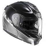 HJC 158475L Casco Moto, Nero/Bianco, L