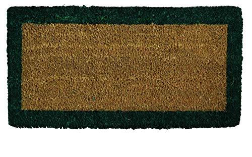 Casatessile Felpudo con Borde para escalones en Coco 25x50 cm. - Verde